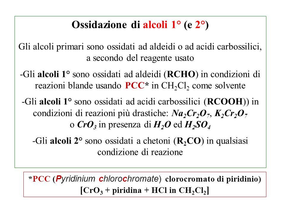Ossidazione di alcoli 1° (e 2°) [CrO3 + piridina + HCl in CH2Cl2]